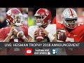 Heisman Trophy 2018 Winner Live Voting Results Tua Tagovailoa Kyler Murray Dwayne Haskins mp3