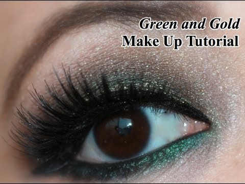 Make Up Tutorial: Smokey Green and Gold Holiday Eyes