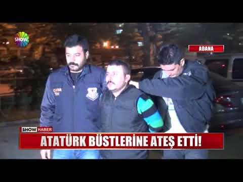 Atatürk büstlerine ateş etti!