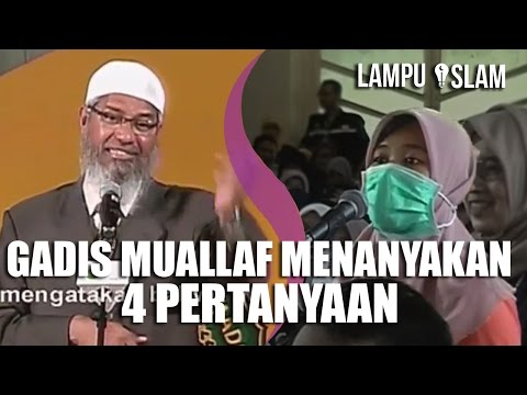 Gadis MUALLAF AJUKAN 4 PERTANYAAN SEKALIGUS | Dr. Zakir Naik UMY Yogya 2017