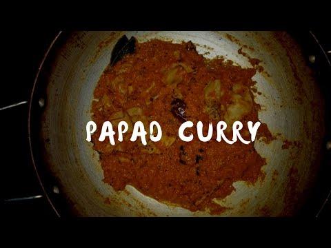 Papad ki sabzi recipe/appadam curry in telugu