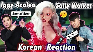 [ENG SUB]🔥🔥 KOREAN BOYS React To IGGY AZELEA - SALLY WALKER