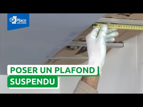 Pose placo r aliser un faux plafond avec placo phonique youtube - Faire les bandes de placo au plafond ...
