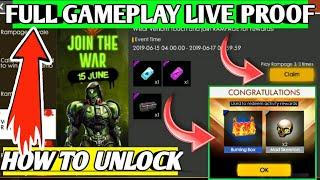 How To Unlock Golden (Burning)🏆 box  💥💥|| Rampage Event Free Fire Full detail 😍|| Free Emote