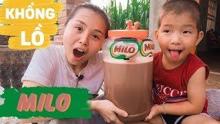 Làm Và Uống 10 Lít Sữa Milo khổng lồ ❤ KN CHENO chị hằng