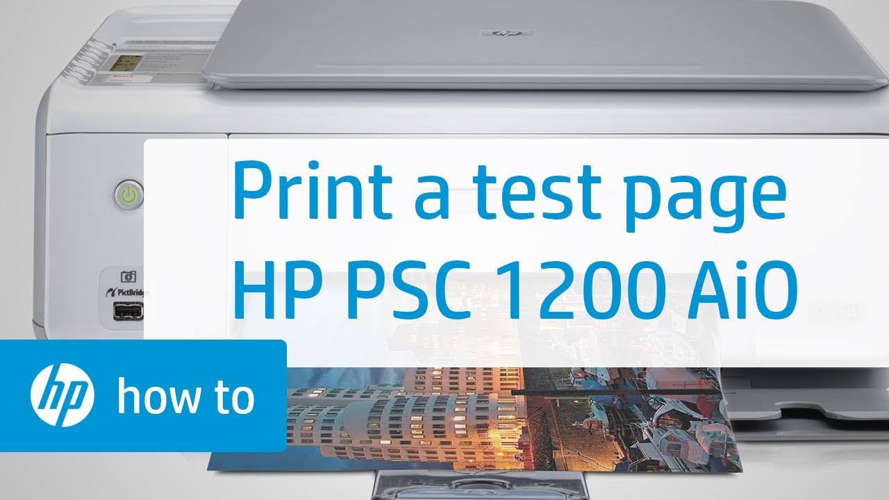 printing a test page hp psc 1200 all in one printer. Black Bedroom Furniture Sets. Home Design Ideas