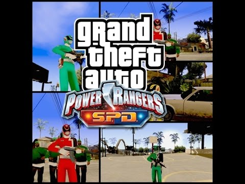 Gta San Andreas-Power Rangers S.P.D Mod