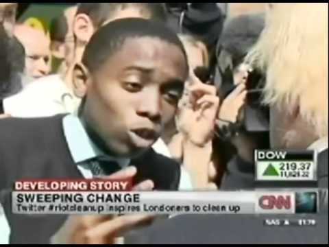LONDON RIOTS: Young man speaks up to London Mayor Boris Johnson