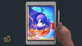 Procreate | 프로크리에이트 강좌 Aladdin 알라딘 👳♀️ iPad Pro Drawing