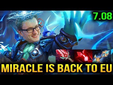 Miracle- Storm Spirit 7.08 Came Back to EU Server Dota 2