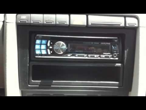 2005 Audi A4 ALPINE CDE-124SXM ipod satellite cd player radio AL & ED's Van Nuys - YouTube
