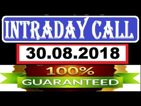 IntraDay Top 3 Jackpot Call 30.08.2018 || today stock || intraday || best stock for 2018