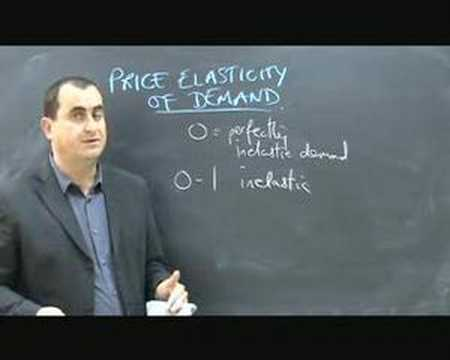 Price Elasticity of Demand - part 1