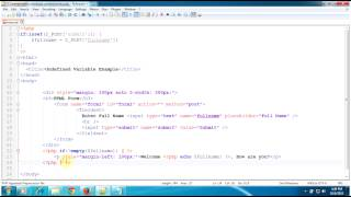 Solution for Notice: Undefined variable: in index.php on line | PHP Tutorials