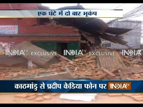 Watch footage from Nepal showing the damage caused by Earthquake