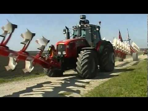 Ploughing world record with Massey Ferguson 8280 (TEXAS).flv