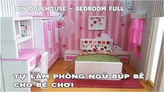 Tự làm phòng ngủ búp bê cho bé chơi | DIY Miniature Girl Dollhouse Room | DIY Bedroom dollhouse FULL