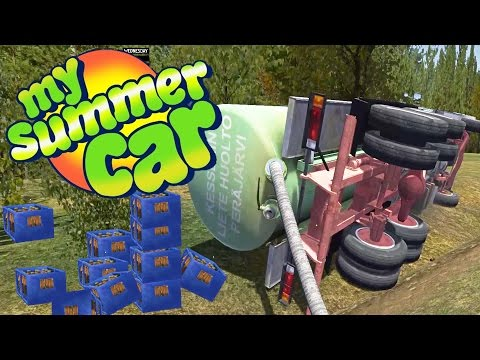 BARE HANDED SEWAGE TANKER FLIPPING After Horrible Crash - My Summer Car Gameplay Highlights Ep 18