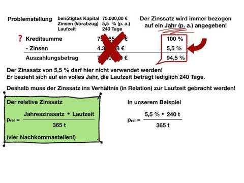 Der relative Zinssatz - Video2 - Die Berechnung