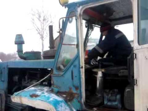 """Покатушки на тракторе Т-150К : """"Заводим трактор"""""""