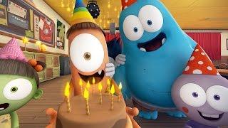 Funny Animated Cartoon 🎉 SPOOKIZ BIRTHDAY PARTY 🎉 스푸키즈   Cartoon for Children