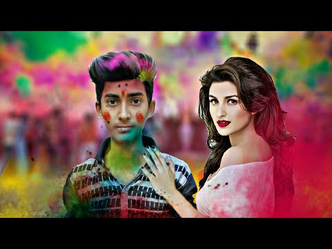 Holi photo editing 2018 || PicsArt happy holi photo editing tutorial || specisl colourful holi pic .