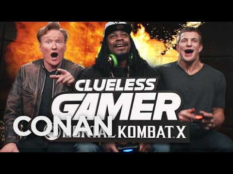 Marshawn Lynch and Rob Gronkowski Play «Mortal Kombat X» With Conan O'Brien