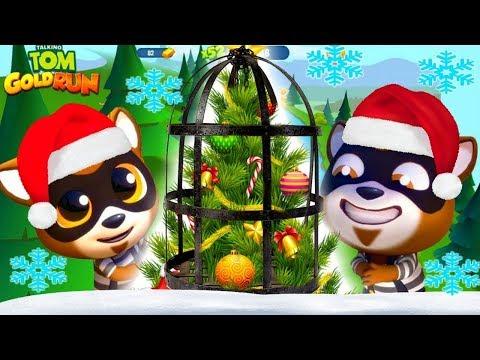 Рождественский забег супер Тома против Супер Анджелы в игре том бег за золотом от Каталекс!