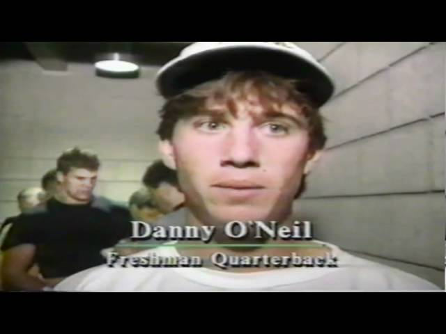 Postgame interviews with Oregon players after Oregon-Utah game 9-21-1991