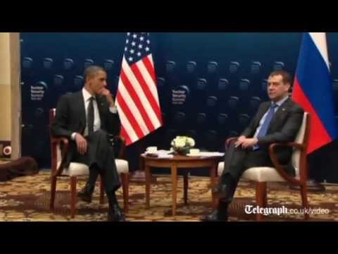 Barack Obama in open microphone gaffe with Dmitry Medvedev