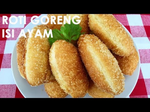 RESEP ROTI GORENG ISI AYAM | Fried Bread with chicken filling | Trivina Kitchen