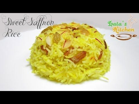 Sweet Saffron Rice Recipe (Kesari Meethe Chawal) — Indian Dessert in Hindi with English Subtitles