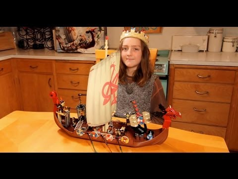 Building LEGO Viking Ship Time-Lapse (HD) 7018