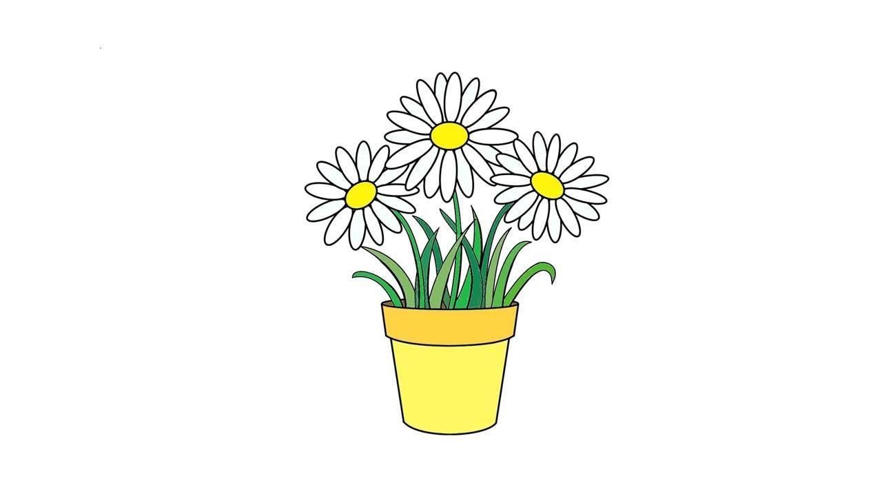 Горшечные цветы из бисера