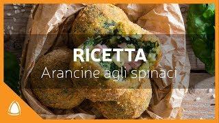 ARANCINE agli SPINACI - RICETTA tradizionale - Arancinotto