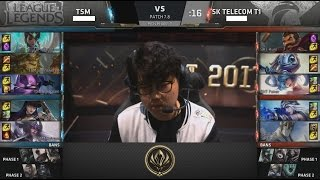 TSM (Hauntzer Kennen) VS SKT (Huni Galio) Highlights - 2017 MSI Group Stage D4