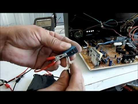 REPARACION DE TV.  NO ENCIENDE  PANASONIC  MODELO  CT-20G5B