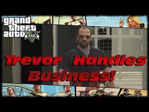 GTA 5 Trevor Handles Business On A Riding Lawnmower & Sawed Off Shotgun! LOL Funny GTA V