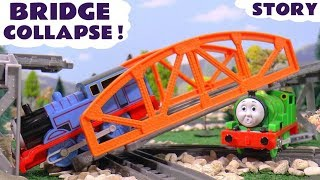 Thomas and Friends Bridge Prank Train Accident Play Doh Diggin Rigs Rescue Tom Moss Toy Fun TT4U