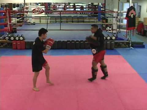 KRU Muay Thai Master Ace Basic Pad Training Image 1