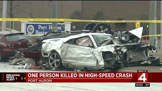 1 person killed in high-speed crash in Port Huron