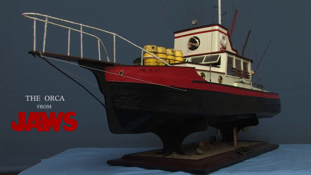 MODEL ORCA BOAT FROM JAWS. - YouTube