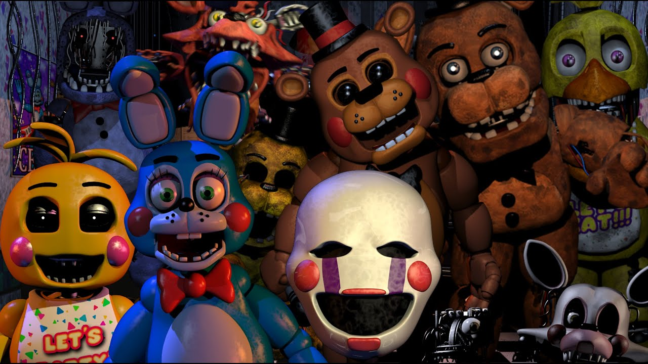 Fnaf 2 all animatronics attack youtube