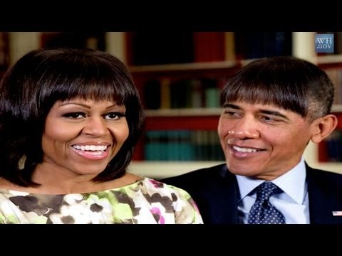 Barack Obama Gets Michelle's Bangs for the White House Correspondents' Dinner! | POPSUGAR News