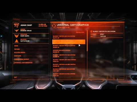 Obtaining Ranger Rank, system chart selling & showing reputation gains | Elite Dangerous