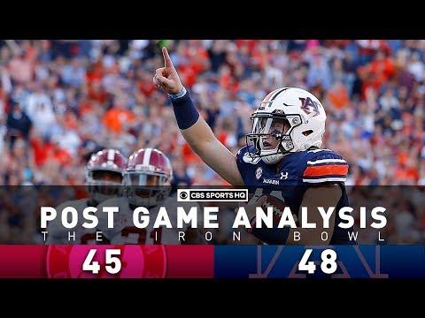2019 Iron Bowl Post Game Analysis: 2 pick sixes, missed FG doom Bama as Auburn wins | CBS Sports HQ