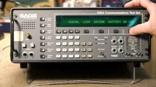 Sage 930A Basic Setup for Dial and Ringer Testing