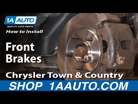 How to Install Replace Front Brakes Chrysler Town and Country 01-08 1AAuto.com