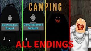 Roblox Camping All Endings (MAY-JUNE 2019)
