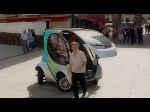 Hiriko folding electric car - full demo